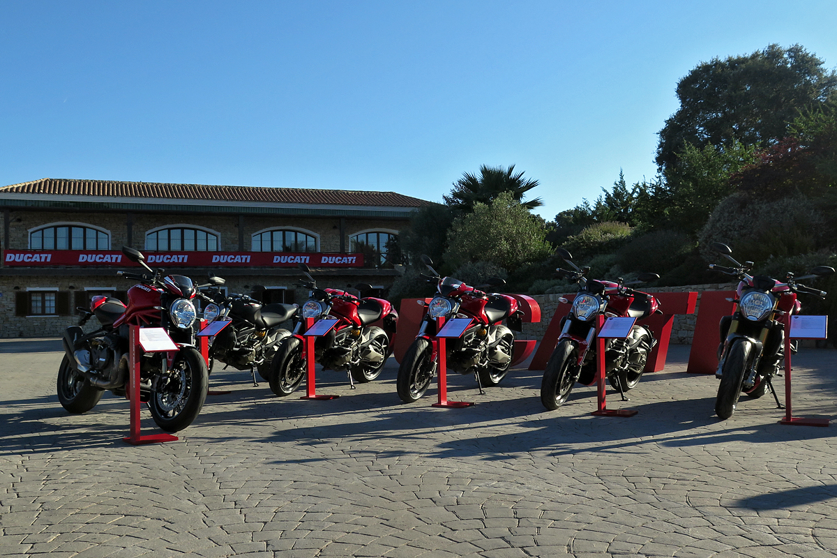Die Ducati Monsterfamilie