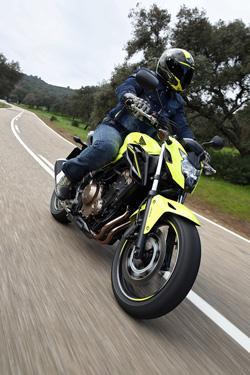 Honda CB500F in Aktion - ein sehr dynamisches Paket