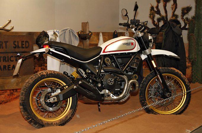 """Der """"Wüstenschlitten"""" Ducati Scrambler Desert Sled macht sicherlich auch auf Asphalt ne gute Figur"""