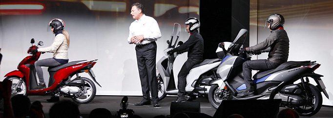 Die populären Roller von Honda - Vision100, SH125i und Forza 125